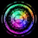 抽象五颜六色的彩虹设计背景 库存图片