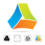 抽象五颜六色的徽标,设计要素。 免版税库存图片