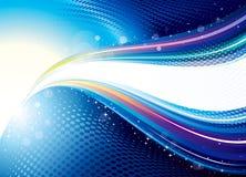 抽象五颜六色的技术背景 免版税库存照片