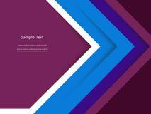 抽象五颜六色的报告盖子模板设计 免版税库存图片