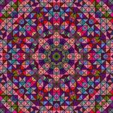 抽象五颜六色的数字式装饰花星 免版税库存照片
