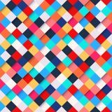 抽象五颜六色的方形的样式背景 免版税库存照片