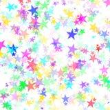 抽象五颜六色的星背景 免版税库存图片