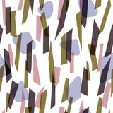 抽象五颜六色的条纹无缝的样式 免版税库存照片