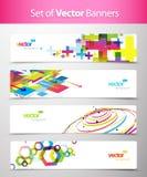 抽象五颜六色的标头设置了万维网 免版税库存图片