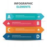 抽象五颜六色的标签三角企业Infographics元素,介绍模板平的设计传染媒介例证 皇族释放例证