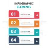 抽象五颜六色的标签企业时间安排Infographics元素,网的介绍模板平的设计传染媒介例证 库存图片