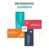 抽象五颜六色的标签企业时间安排Infographics元素,网的介绍模板平的设计传染媒介例证 库存例证