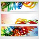 抽象五颜六色的横幅。 免版税库存照片