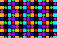 抽象五颜六色的正方形和金刚石 库存照片
