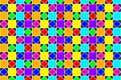 抽象五颜六色的正方形和金刚石 免版税库存图片