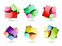 抽象五颜六色的正方形 库存照片