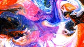 抽象五颜六色的油漆液体艺术运动 股票视频