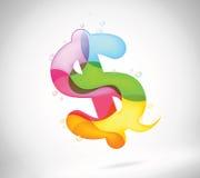 抽象五颜六色的泡影谈话 库存照片
