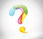 抽象五颜六色的泡影谈话 免版税库存照片