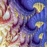 抽象五颜六色的波动图式 向量例证