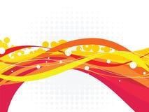抽象五颜六色的波浪传染媒介例证 免版税库存图片