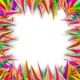 抽象五颜六色的波浪线背景 免版税库存照片