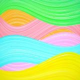抽象五颜六色的波浪背景。传染媒介 图库摄影