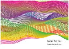抽象五颜六色的波浪背景 免版税图库摄影