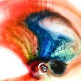 抽象五颜六色的液体 免版税库存图片