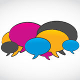 抽象五颜六色的演讲泡影 免版税库存图片