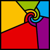 抽象五颜六色的漩涡向量 免版税库存照片