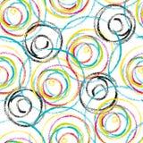 抽象五颜六色的漩涡无缝的样式设计 向量例证