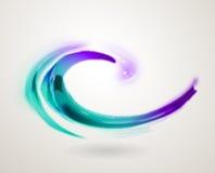 抽象五颜六色的漩涡象标志 免版税库存图片