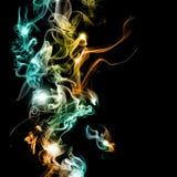 抽象五颜六色的烟 免版税库存照片
