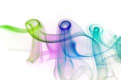 抽象五颜六色的烟 库存照片