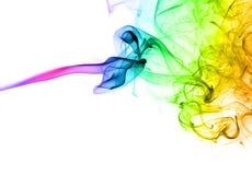 抽象五颜六色的烟 免版税图库摄影