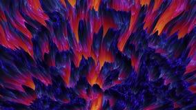 抽象五颜六色的熔岩岩浆背景神秘的物质,无缝的圈 皇族释放例证