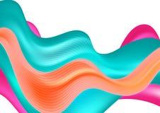 抽象五颜六色的现代波浪背景 图库摄影
