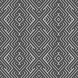 抽象五颜六色的种族几何例证模式无缝的向量 免版税库存照片