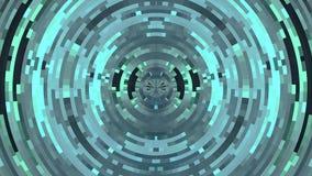 抽象五颜六色的移动的圈子映象点阻拦赋予生命的背景动画新的质量普遍行动动力学 股票视频