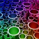 抽象五颜六色的管形状 库存照片