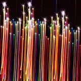 抽象五颜六色的线光背景 免版税库存照片