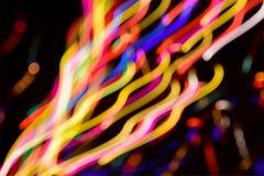 抽象五颜六色的线光背景bokeh 库存图片