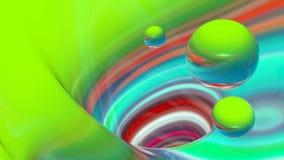 抽象五颜六色的线和球形 免版税库存图片