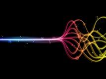 抽象五颜六色的线路彩虹 库存图片