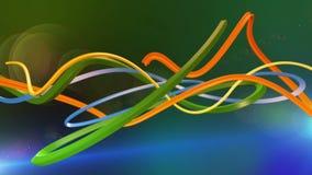 抽象五颜六色的线路 股票录像