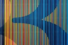 抽象五颜六色的线 免版税库存照片
