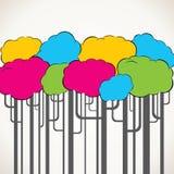 抽象五颜六色的结构树背景 库存图片