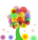 抽象五颜六色的结构树 免版税库存照片