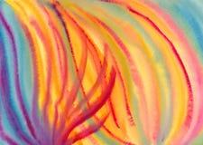 抽象五颜六色的绘画水彩 免版税库存照片