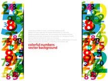 抽象五颜六色的编号 向量例证