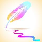 抽象五颜六色的羽毛 库存照片