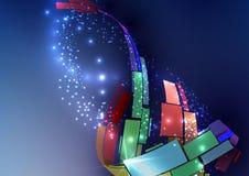 抽象五颜六色的背景。 免版税库存照片