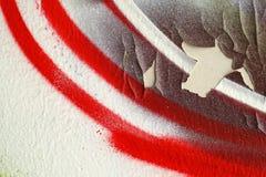 抽象五颜六色的背景关闭街道艺术 免版税库存图片